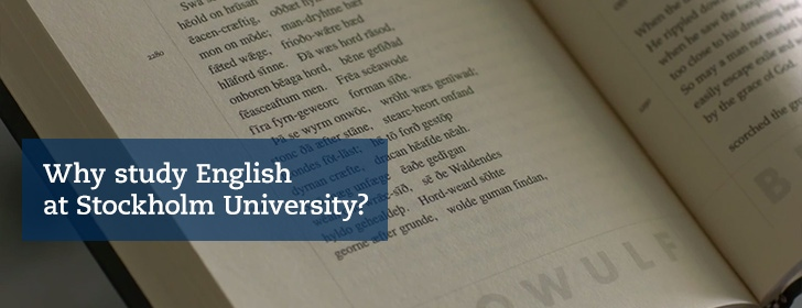 Why study English at Stockholm University?